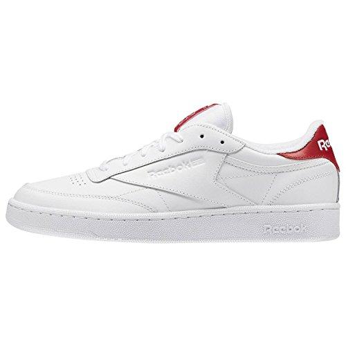 Reebok Hombres Calzado / Zapatillas de deporte Club C 85 EL White/Exclnt Red
