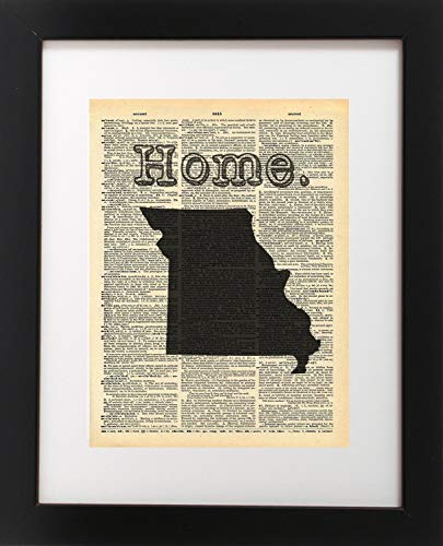 - Missouri State Vintage Map Dictionary Art Print 8x10 inch Home Vintage Art Abstract Prints Wall Art for Home Decor Wall Decorations For Living Room Bedroom Office Ready-to-Frame