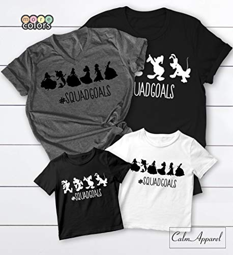 Squad Goals Shirts, Clubhouse Family Matching T-shirts, Vacation trip Tees, Women's Unisex Summer Muscle Workout Tanks