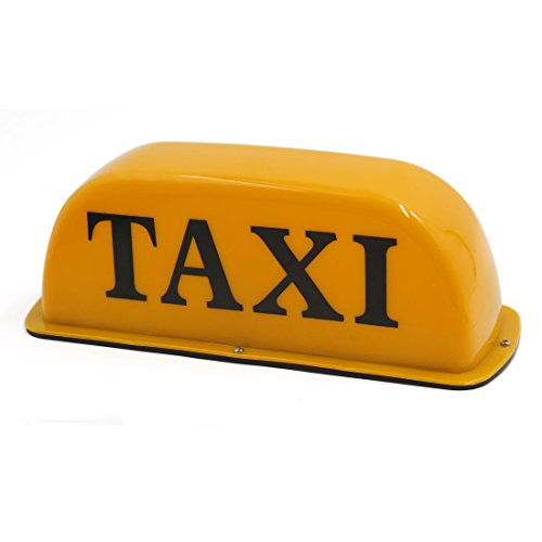 uxcell Waterproof Magnet Yellow Car Taxi Cab Roof Top Light Indicator Lamp