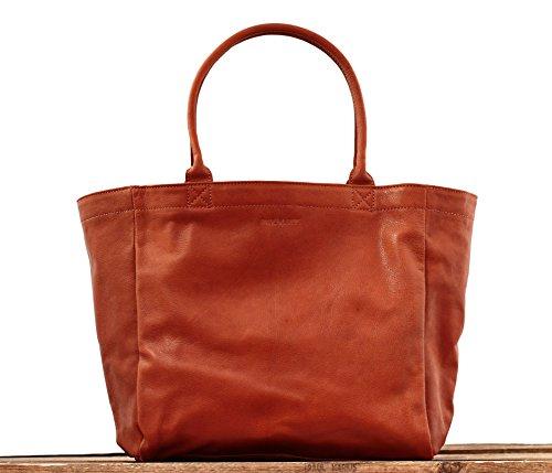 MON PARTENAIRE NATUREL tamaño M bolso de mano de cuero bolso de estilo vintage marrón PAUL MARIUS
