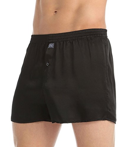 Hartman 100% Eco-Friendly Silk Charmeuse Boxer (791015) L/Black