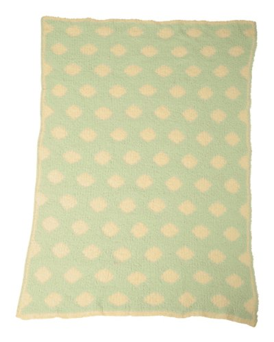 Colorado Clothing Kid's Chunky Chenille Polka Dot Blanket, Wasabi, One Size
