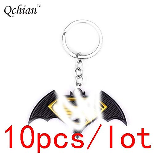 PAPRING Set 10 Keychain 2-2.8 inch Hot Zinc Action Figure Small Figures Toys Mini Model Keyring Pendant Gifts Christmas Halloween Birthday Gift Movie Collectible for Kids -