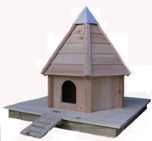 Floating Duck House (Cypress Wood Floating Duck Nesting House, Made in the USA)