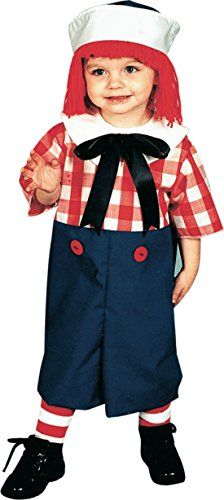 Boys Raggedy Andy Kids Child Fancy Dress Party Halloween Costume, S (4-6) ()