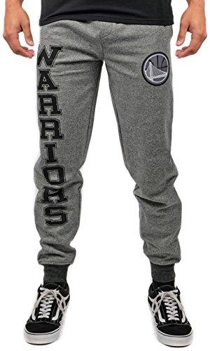UNK NBA Adult Los Angeles Lakers Men's Jogger Pants Varsity Stripe Marl Fleece Sweatpants, Black, X-Large