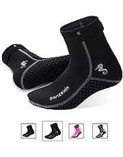Panzexin 3mm Neoprene Diving Socks, Wetsuit Socks Sand-Proof Scuba Snorkeling Fins Socks for Open Water Swimming