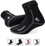Panzexin 3mm Neoprene Diving Socks, Wetsuit Socks Sand-Proof Scuba Snorkeling Fins Socks for Open Water Swimmi
