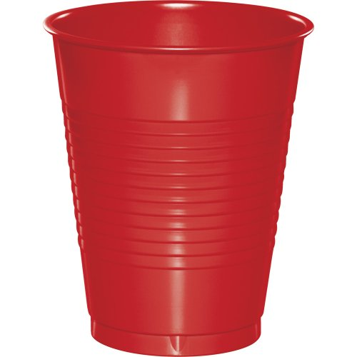 Touch of Color 16-Ounce Plastic Cups, Classic Red, 600-Count (Classic Red Plastic Tablecover)