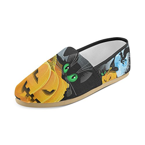 M-story Fashion Sneakers Flats Happy Halloween Pumpkin Womens Classic Slip-on Scarpe Di Tela Mocassini Multi16