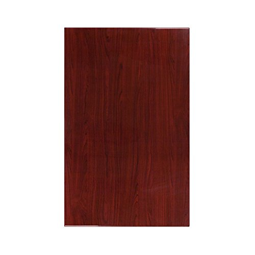 Flash Furniture 30'' x 48'' High-Gloss Mahogany Resin Table Top with 2'' Thick Drop-Lip