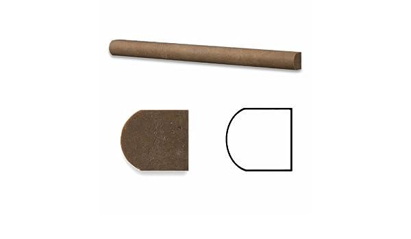 Noce Travertine Honed 1//2 X 12 Pencil Liner Trim Molding 4 Sample
