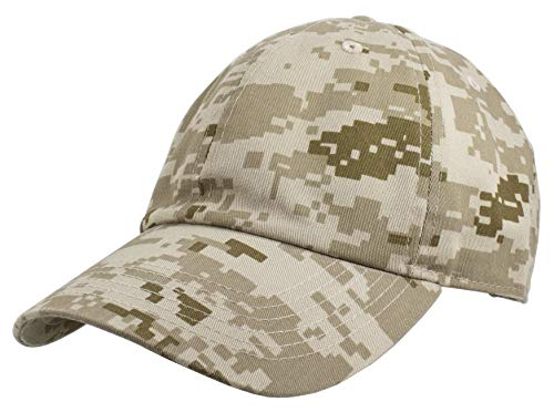 Gelante Baseball Caps Dad Hats 100% Cotton Polo Style Plain Blank Adjustable Size. 1800-6-Yell Camo