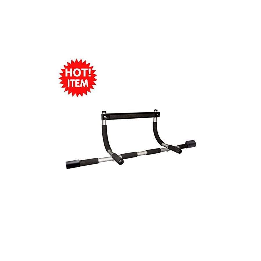 Doorway chin up bar pull up bar sit up multi function home gym better design heavy gauge steel construction and tested to work perfectly up to 300 lbs