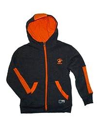 Little Boys Charcoal Heather Zip-up Fleece Hoodie Jacket (5/6)