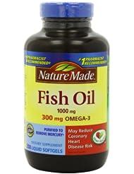 (6折)Nature Made 自然制造 天然 鱼油 1000毫克 特惠装 250粒 SS后 $9.97