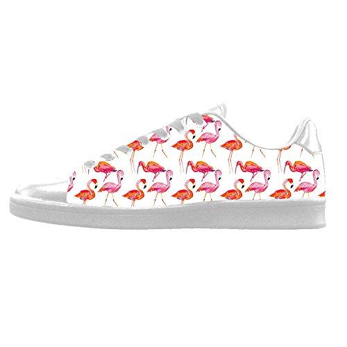 Da Delle In Custom Sopra Ginnastica Lacci Scarpe Le Flamingo Men's Shoes Di Modello Alto Tela Canvas I zrO1w0qz