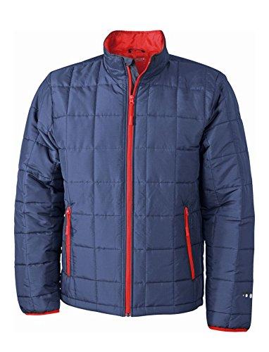 Con Men's red Giaccone Imbottito Navy Uomo Light Jacket Thinsulate™ Caldo Weight Padded wEgZXq