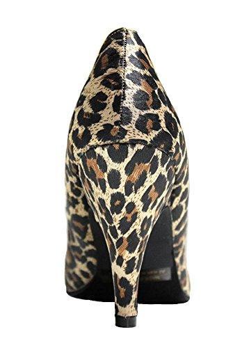High Prints Heels Carrie Leopard Womens On Slip Shoes Stilettos Pumps Leopard 38 Dress 4Ow4qanU