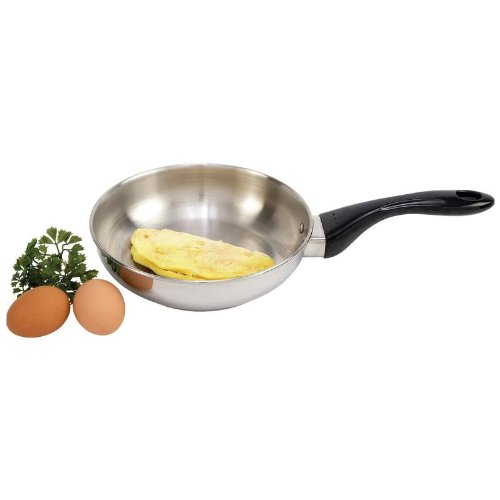 Precise Heat™ 8-1/4'' 12-Element T304 Stainless Steel Omelet Pan Home Kitchen Furniture Decor