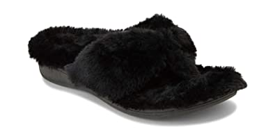 0f18c070ae Vionic Women's Indulge Gracie Thong Plush Slipper - Toe-Post Slippers with Concealed  Orthotic Arch