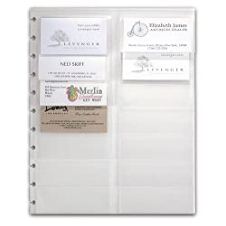 Levenger Circa Business Card Holder Letter Business Card Holder (Ads10065)