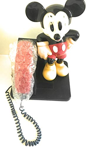 Photo Mickey Mouse Phone AT&T 1992 Red Black Telephone