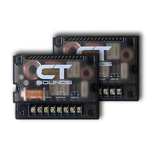 CT Sounds Car Audio Passive 3 Way Crossover - Set for Component Speakers, Midrange and Tweeter Crossovers, Full Range Audio Frequency (Pair)