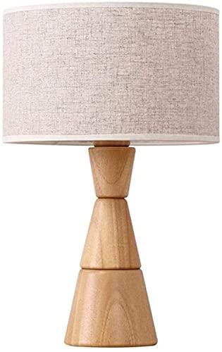 XFXDBT Nachtkastje Lamp Japanse massief hout splitsen tafellamp hoge doorschijnende linnen doek nachtkastje verlichting…
