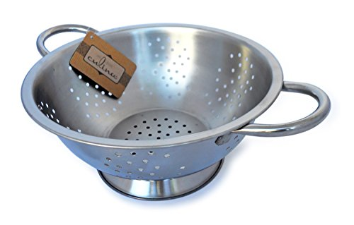 Culina 3 Qt. Colander Punched Hole w/ Handles. Stainless Steel Dishwasher - Colander Dishwasher Safe