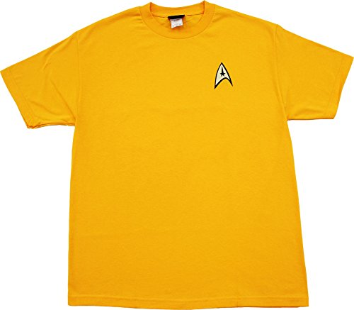 Star Trek Command Uniform Image Gold T-shirt Tee (Adult XXX-Large) (Star Trek Costumes Images)