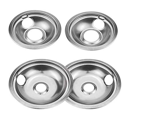 Surborder Shop Burner Rings 4 Pack Stainless Steel Reflector Bowls Universal Drip Pan Kits