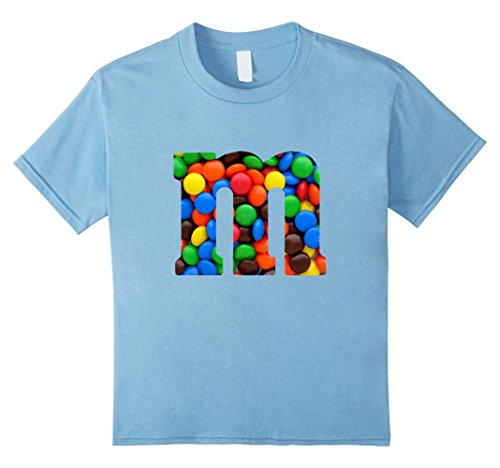 Kids M Candy Letter Monogram DIY Halloween Costume 2017 T-Shirt 10 Baby (Baby Halloween Costumes Diy)