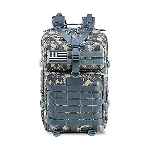 50L容量メンズタクティカルバックパック防水アウトドアスポーツハイキングキャンプ狩猟3Dバックパックメンズバッグ (Color : ACU-digital) B07SQRXF3Q ACU-digital