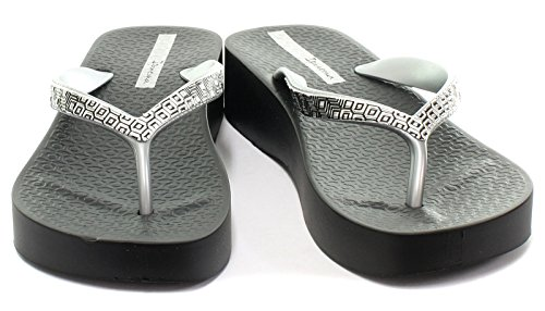 Raider Ip81928/21148, Chanclas Unisex Adulto Varios colores (Negro /     Plata)