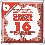 Ernie Ball Nickel Plain Single Guitar String .016 Gauge 6-Pack