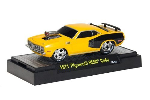 Plymouth Hemi Cuda Body - 1971 Plymouth HEMI Cuda (Yellow) * M2 Machines Ground Pounders Release 2 * 2010 Castline Premium Edition 1:64 Scale Die-Cast Vehicle (10-03)