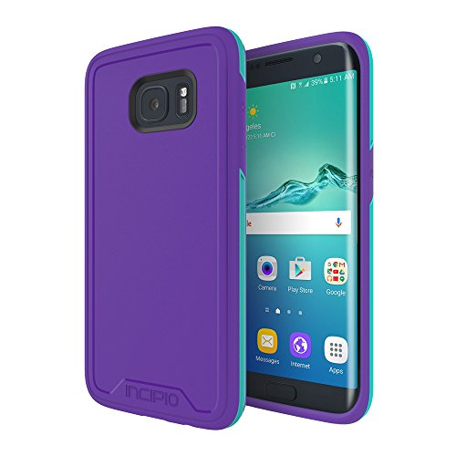 Samsung Galaxy S7 Edge case, Incipio [Performance Series] Level 3, Superior Drop Protection Shock-Absorbing Scratch-Resistant Tri-modeled Cover - Purple/Teal