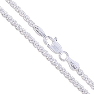 Sterling Silver Wheat Chain 1.9mm Solid 925 Italy New Foxtail Spiga Necklace JJLs95