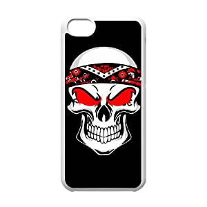 IPhone 5C Phone Case for Classic Theme RED SKULL pattern design GCTRSL992844
