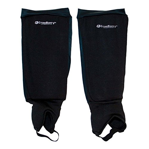 GRAYS CranBarry Deluxe Youth Field Hockey Shinguards Size: No Size Black