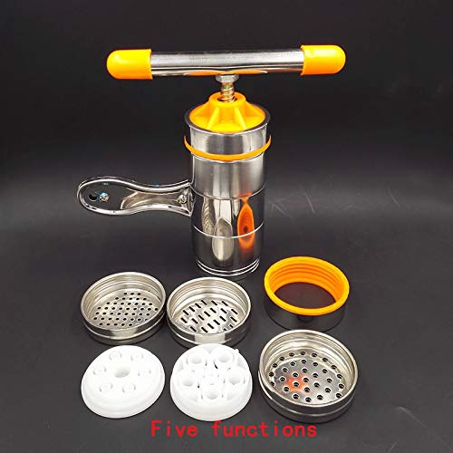 Pasta Machines & Attachments - Manual Noodle Maker Kitchen Pasta Spaghetti Press pates Machine Vegetable Fruit Juicer Pressing Machine Stainless Steel - by Parkinson LLC