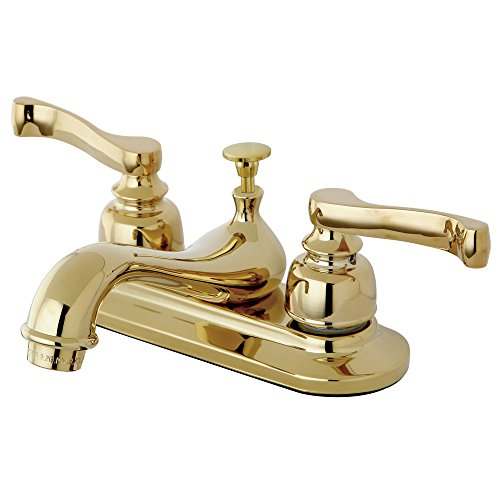 Kingston Brass KB8602 4-Inch Centerset Lavatory Faucet With Pop-Up Drain, Polished Brass