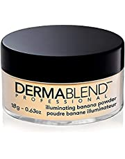 Dermablend Illuminating Banana Powder, Loose Setting Powder Makeup for Brightening and a Long,Lasting Luminous Finish, up to 16hr Wear, 18g.