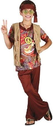 Disfraz de hippie para niño - 7 - 9 años: Amazon.es: Ropa y ...