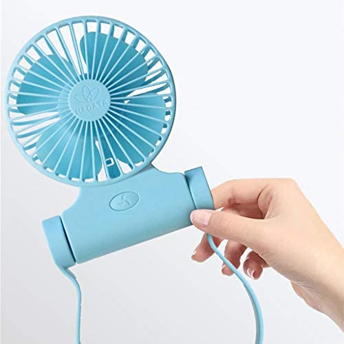 Yiwann ventilador portátil recargable, funciona con pilas o