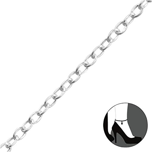 a Silver Anklets 925 Sterling Silver Liara Polished Nickel Free