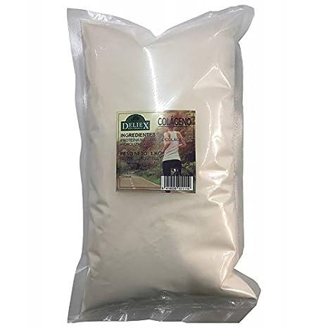 Colágeno hidrolizado bolsa de 1 kilo proteína natural: Amazon.es: Salud y cuidado personal