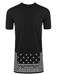 Men's Hipster Hip Hop Short Sleeve Hooded Fashion Tee Casual Hoodie Side Zipper T Shirts